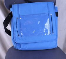 Crop In Style Craft Bag Blue Turquoise Tote Shoulder Strap