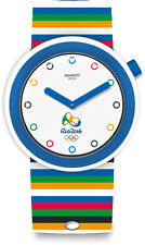 Swatch Originals Poptabon 2016 Rio Olympics White Dial Swiss Quartz Watch PNZ100