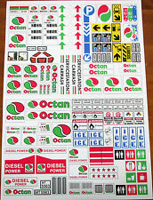 CUSTOM OCTAN GAS STATION STICKERS for LEGO 4207 7993 6562 6397 3180 5563 + MORE