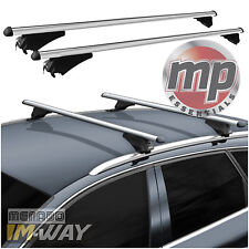 M-Way Lockable Aluminium Car Roof Rack Flush Rail Bars for Ford Focus Estate 11