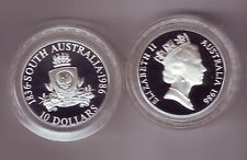 1986 Silver Proof $10 Coin South Australia ex State Series Set in Capsule