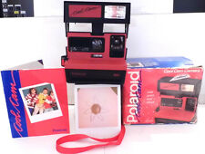 Polaroid 600 Instant Camera- Red Cool Cam +Box & Manual -TESTED V1