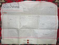 "English VELLUM Pub Lease Indenture Birmingham ""American Inn"" Taylor Wright 1892"