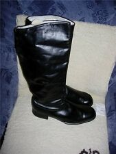 SOVIET MILITARY PARADE CHROME LEATHER HIGH BOOTS OF RED ARMY OFFICER Size 43