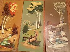 3 Vintage Paint By Number Summer Autumn Winter