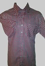 NEW! S MODERNACTION Red Gingham Shirt Skinhead Lonsdale Smedly John