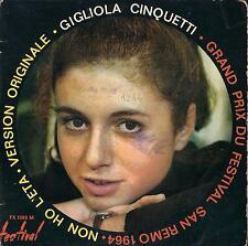 DISCO 45 Giri  Gigliola Cinquetti - Non Ho L'Età / Sei Un Bravo Ragazzo