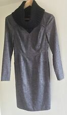 Max & Co Wool Knee-length Long Sleeved V-neck Pencil Dress UK Size 8