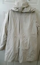 LL bean beige white jacket XL Winter Coat removable hoodie and inside part
