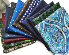 New 101 Color Lot 10 pack Mens Silk Pocket Square Handkerchief Checks Hanky 10""
