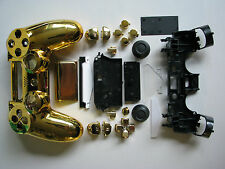 Chrome GOLD Housing Shell Full Mod Kit for PS4 Controller incl motherboard CADDY