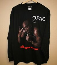 DEADSTOCK 2PAC TUPAC 2006 ALL EYEZ ON ME LS T-SHIRT MENS LARGE DEATH ROW RECORDS