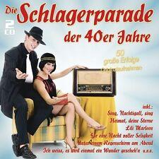 DIE SCHLAGERPARADE DER 40ER JAHRE - RUDI SCHURICKE/HORST WINTER/+  2 CD NEW+