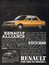 1984 vintage auto AD RENAULT ALLIANCE Gold 4dr Sedan 022116