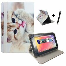 "8 inch Book Case Cover For AT&T Trek 2 HD - 8"" Cat Kitten 2"