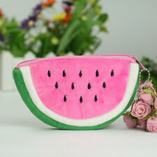 New Watermelon Plush Stationery Pencil case Pen Purse Bag Cosmetic Bag Pink