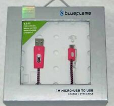 BlueFlame 1M Charge + Sync Cable with Micro USB Connector BF2087