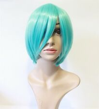 NEW Short Hair Bob Wig Turquoise Heat Resistant Halloween Cosplay Costume Party