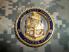 """United States Navy CHIEF PETTY OFFICER SCPO """"Anchor Up"""" Die Cut Challenge Coin"""