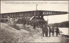 ARMENTIÈRES en BRIE (77) - Travaux 5e GÉNIE 1912-Pont disposé pour le lancement