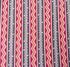 Lou Lou Thi BTY Anna Marie Horner FreeSpirit Floral ZigZag Stripe Gray Magenta