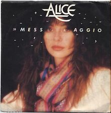 "ALICE - Messaggio - VINYL 7"" 45 LP 1982 VG+ COVER VG+ CONDITION"