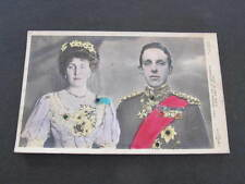 King & Queen of Spain Royalty Portrait Relief Embossed Postcard
