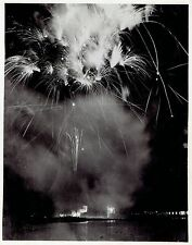 1938 Vintage Photo fireworks display at New York City World's Fair Exposition