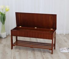 Shoe Organizer Wooden Rack Storage Bench With Cherry Color