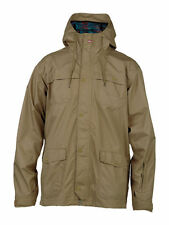 QUIKSILVER Men's ROCKS Snow Shell Jacket - KHA - Large - NWT