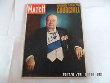 PARIS MATCH N°825 30/01/1965 CHURCHILL HOMMAGE A UN GEANT       K24