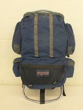 """Jansport Anatomically Curved External Frame Backpack Blue 14x32"""" Fast Shipping"""
