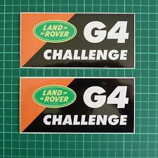 Land Rover G4 Challenge Decal Sticker Kit for Defender 90 110 142mm x 68mm