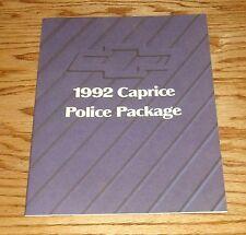Original 1992 Chevrolet Caprice Police Package Sales Brochure 92 Chevy