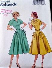 1950s DRESS BUTTERICK RETRO SEWING PATTERN 6-8-10-12-14 UC