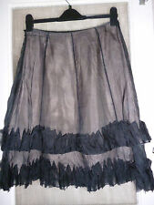 COAST BLACK PURE SILK ORGANZA DOUBLE LAYER FRILL FLIRTY FEMININE PARTY SKIRT 10