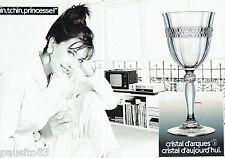 PUBLICITE ADVERTISING 086  1984  Cristal d'Arques  (2p) verre Annecy