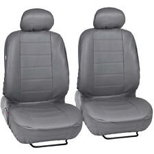 ProSynthetic Gray Leather Auto Seat Covers for Honda Accord Sedan, Coupe