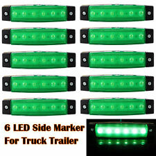 10x 12V 24V 6LED Side Marker Indicators Light Truck Trailer Boat Clearence Green