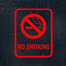 No Smoking Sign Decal Vinyl Sticker Shops Pubs Cafes Hotels Bars Offices