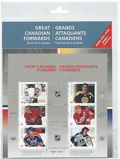 CANADA STAMPS GREAT CANADIAN HOCKEY FORWARD PANE OF 6 STAMPS  MNH