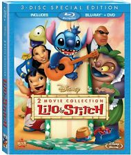Lilo & Stitch - 2-Movie Collection [Blu-ray + DVD, Disney, Region A, 3-Disc] NEW