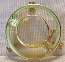 """2 &1/4"""" FITTER SHADE HOLDER bridge lamp old antique  BRASS CLAMP ON CO"""
