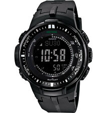 Casio Men's  PRW3000-1A Protrek Black Triple Sensor Multi-Function Watch