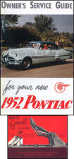 1952 Pontiac Chieftain Deluxe Convertible Owners Manual Set User Instruction