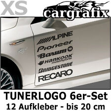 Tunerlogo Sponsoren Aufkleber Marken Auto Decals Tuning Racing Logo Sticker Set
