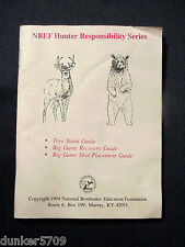 NBEF HUNTER RESPONSIBILITY SERIES TREE STAND GUIDE SC 1994 BOWHUNTER EDUCATION