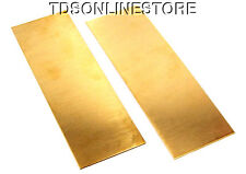 "Yellow Brass Sheet 18ga 6"" x 2"" 1.02mm Thick Package Of 2"