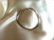 Crown Trifari Gold Tone Herringbone Style Chain Bracelet