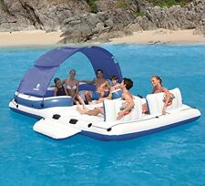 Inflatable Floating Island 6 Person Raft Water Lounge Boat Lake Pool Party Float